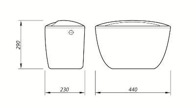 Бачок Комфорт (шток, бок.подводка)